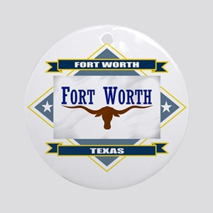 Fort Worth Flag Ornament (Round)