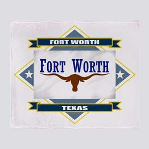 Fort Worth Flag Throw Blanket