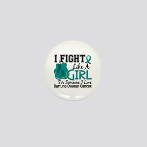Licensed Fight Like A Girl 15.6 Ovaria Mini Button