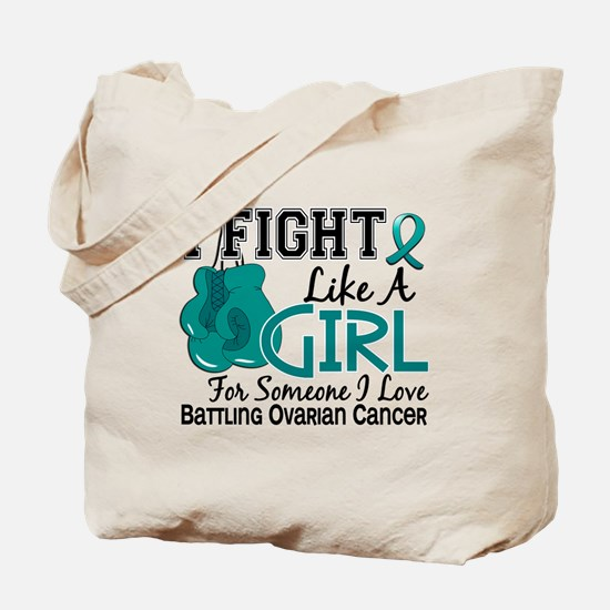 Licensed Fight Like A Girl 15.6 Ovarian C Tote Bag
