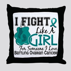 Licensed Fight Like A Girl 15.6 Ovari Throw Pillow