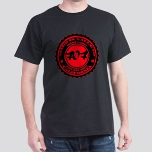Made in Vallejo - Red on Black T-Shirt