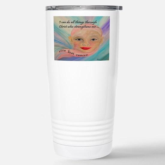 Cute Face cancer survivor Travel Mug
