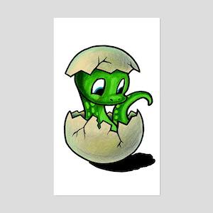 Baby Green Dinosaur Sticker!