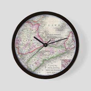 Vintage Nova Scotia and New Brunswick M Wall Clock