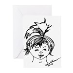 Anime Styled Characters Greeting Cards (Pk of 10)