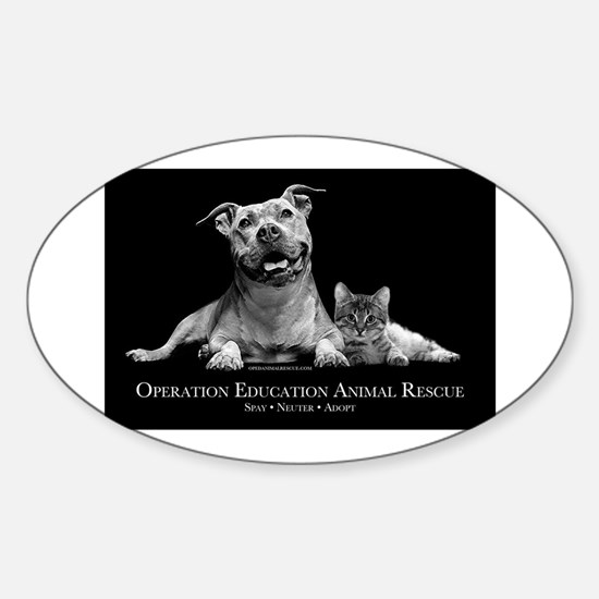 Operation Education Animal Re Sticker (Oval)