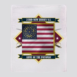 23rd New Jersey Throw Blanket