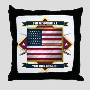 6th Wisconsin V.I. Throw Pillow
