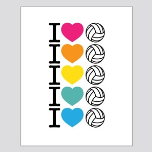 I Heart Volleyball Small Poster