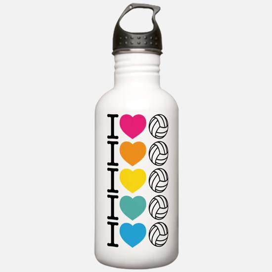 I Heart Volleyball Sports Water Bottle