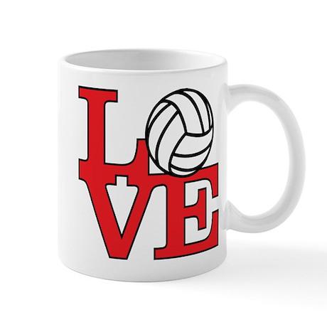 Volleyball Love - Red Mug