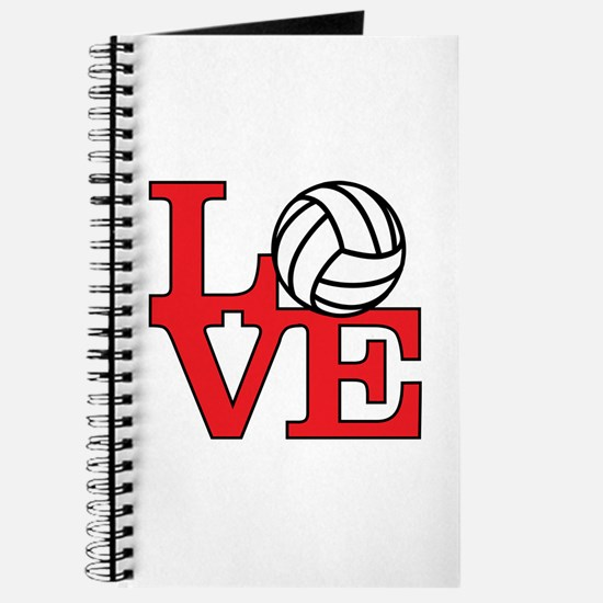 Volleyball Love - Red Journal