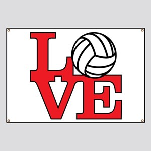 Volleyball Love - Red Banner