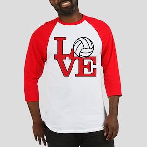 Volleyball Love - Red Baseball Jersey
