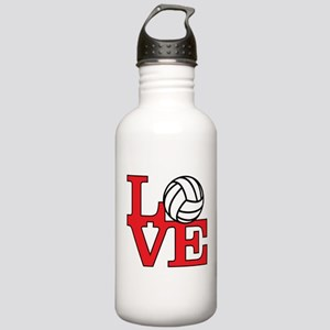 Volleyball Love - Red Stainless Water Bottle 1.0L