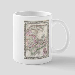 Vintage Nova Scotia and New Brunswick Map (18 Mugs