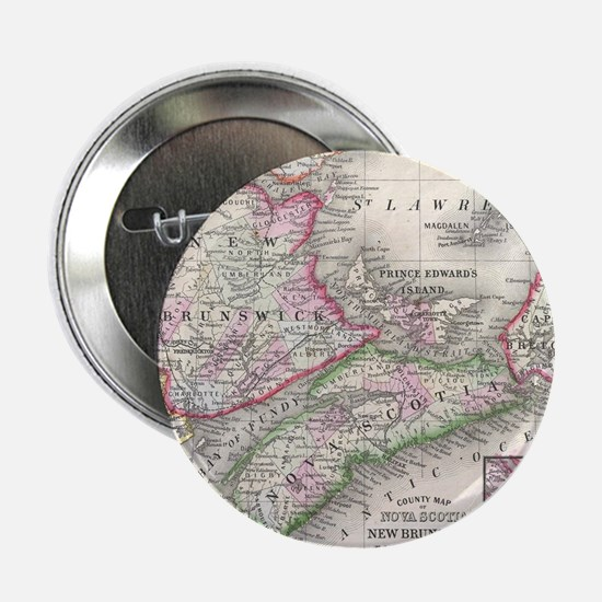 "Vintage Nova Scotia and New Brunswick 2.25"" Button"