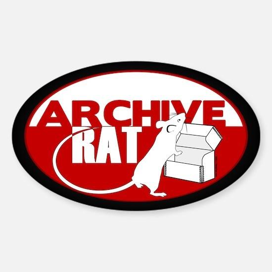 Archive Rat (V1) Sticker (Oval)