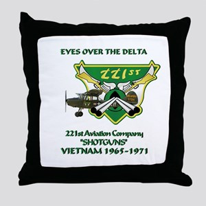 221st RAC Throw Pillow