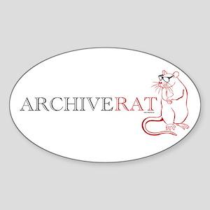 Archive Rat (V3) Sticker (Oval)