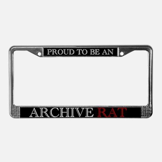 Archive Rat (V3) License Plate Frame