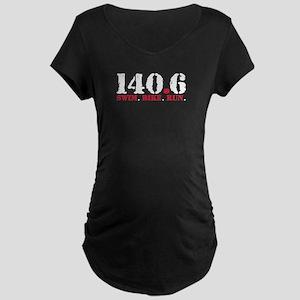 140.6 Swim Bike Run Maternity Dark T-Shirt