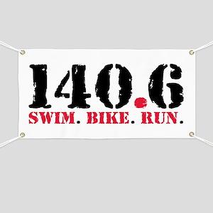 140.6 Swim Bike Run Banner