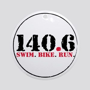 140.6 Swim Bike Run Ornament (Round)