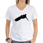Wakeboarding Women's V-Neck T-Shirt