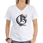 Groundfighter G series #1 Women's V-Neck T-Shirt