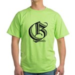 Groundfighter G series #1 Green T-Shirt