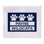 Payne Wildcats Plush Fleece Throw Blanket
