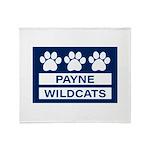 Payne Wildcats Plush Fleece Throw Blanket
