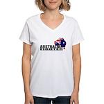 Australian Fighter Women's V-Neck T-Shirt