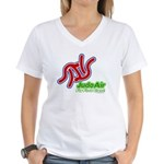 Judo Air Fly First Class Women's V-Neck T-Shirt