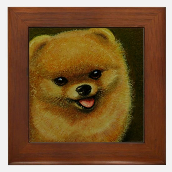 Pomeranian Framed Tile