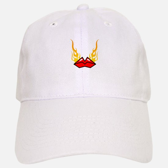 Flaming Hot Lips Baseball Baseball Cap
