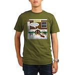 Live Yard Nativity Organic Men's T-Shirt (dark)