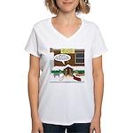 Live Yard Nativity Women's V-Neck T-Shirt