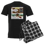 Live Yard Nativity Men's Dark Pajamas