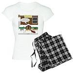 Live Yard Nativity Women's Light Pajamas