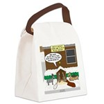 Live Yard Nativity Canvas Lunch Bag