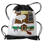 Live Yard Nativity Drawstring Bag