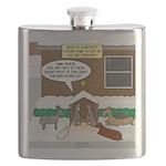 Live Yard Nativity Flask