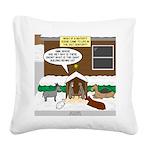 Live Yard Nativity Square Canvas Pillow