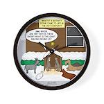 Live Yard Nativity Wall Clock