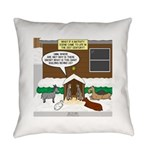Live Yard Nativity Everyday Pillow