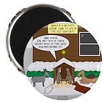 Live Yard Nativity Magnet