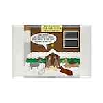 Live Yard Nativity Rectangle Magnet (100 pack)